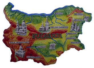 Bulgarian Map Souvenir